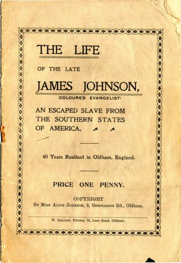The Life of the Late James Johnson (detail), published in 1914